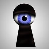 Trou de la serrure de coup d'oeil de monstre Image libre de droits
