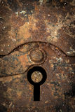 Trou de la serrure rouillé photographie stock libre de droits