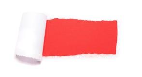 Trou de papier déchiré photographie stock libre de droits