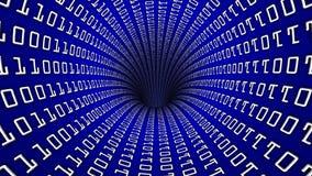 Trou de tunnel de réseau de code binaire Photographie stock libre de droits