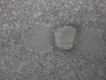 Trou en asphalte images libres de droits