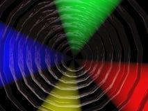Trou noir avec les projecteurs colorés Photographie stock