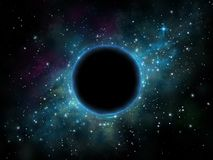 Trou noir dans l'espace illustration de vecteur