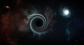 Trou noir dans l'espace illustration stock