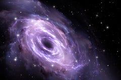 Trou noir dans la nébuleuse, champ gravitationnel Photo libre de droits