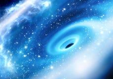 Trou noir Supermassive au centre galactique de manière laiteuse illustration libre de droits
