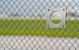 Trou plat de visionnement de barrière d'aéroport d'observateur photographie stock