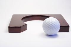 Trou pour un golf Photo libre de droits