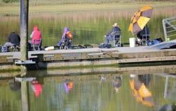 Trou préféré de pêche Images libres de droits