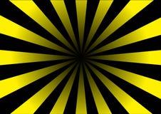 Trou rayé jaune Photographie stock