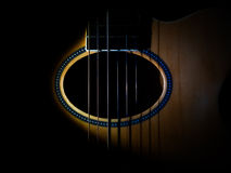 Trou sain de guitare Photo libre de droits