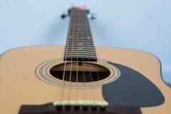 Trou sain de guitare acoustique Images stock