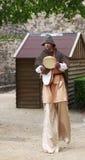 Troubadour op stelten Stock Foto's