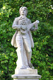 Troubadour statue Stock Photography