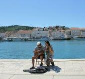 Troubadours adriatiques de rue Image libre de droits