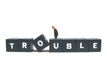 Trouble. A businessman is in trouble Stock Photo