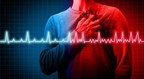 Trouble cardiaque illustration de vecteur
