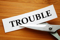 Trouble cut Stock Photo