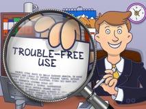 Trouble-Free Use through Magnifier. Doodle Design. Stock Photos
