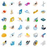 Trouble icons set, isometric style Royalty Free Stock Image
