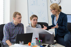 Trouble at the office Stock Photography