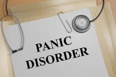 Trouble panique - concept médical Photographie stock libre de droits