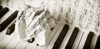 Trouble with piano playing... Royalty Free Stock Photo