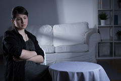 Trouble woman with depression Stock Image