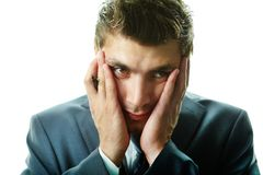 Troubled businessman Stock Photography