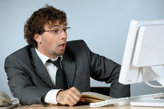 Troubled businessman Royalty Free Stock Photography