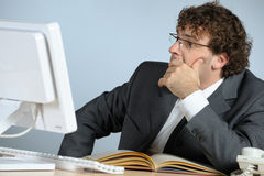 Troubled businessman Stock Photo