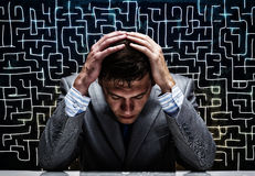 Troubled businessman Stock Image