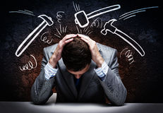Troubled businessman Royalty Free Stock Photos