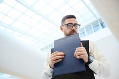 Troubled businessman stock images
