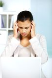 Troubled businesswoman Royalty Free Stock Photography