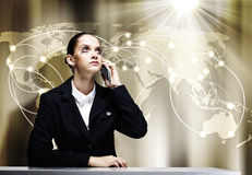 Troubled businesswoman Royalty Free Stock Photo