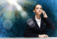 Troubled businesswoman Royalty Free Stock Photos