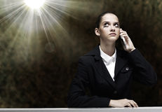 Troubled businesswoman Stock Photography