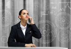 Troubled businesswoman Stock Images