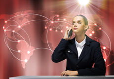 Troubled businesswoman Royalty Free Stock Images