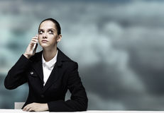Troubled businesswoman Royalty Free Stock Image