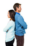 Troubled couple standing back to back Royalty Free Stock Photography