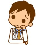 Troubled doctor. This is an illustration of a troubled doctor Royalty Free Stock Images