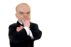 Troubled little businessman Stock Photography