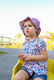 Troubled look. royalty free stock photography