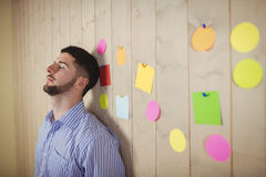 Troubled man in office Stock Photos