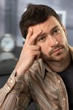 Troubled office worker Stock Images