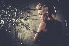 Troubled  punk teenager Royalty Free Stock Photography