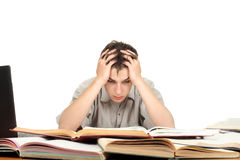 Troubled Student Royalty Free Stock Images