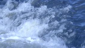 Troubled Waters. Blue Troubled Waters, telephoto lens stock footage